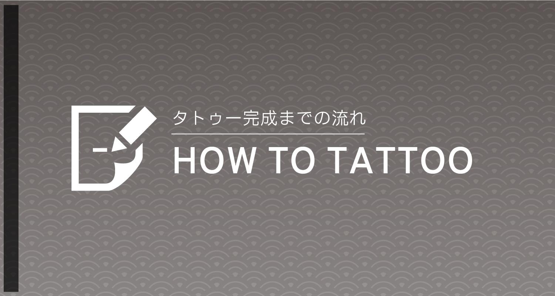 タトゥー完成までの流れ/HOW TO TATTOO
